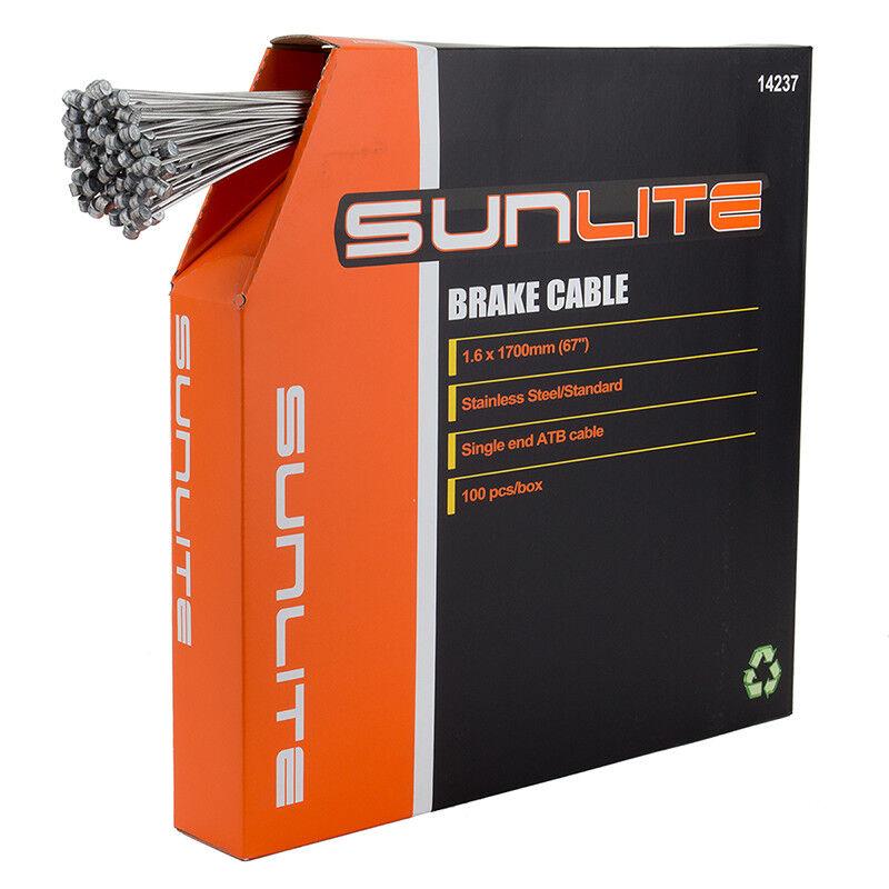 Sunlite Cables de Freno Cable Freno Sunlt 1.6x1700 Ss Atb Bxof100