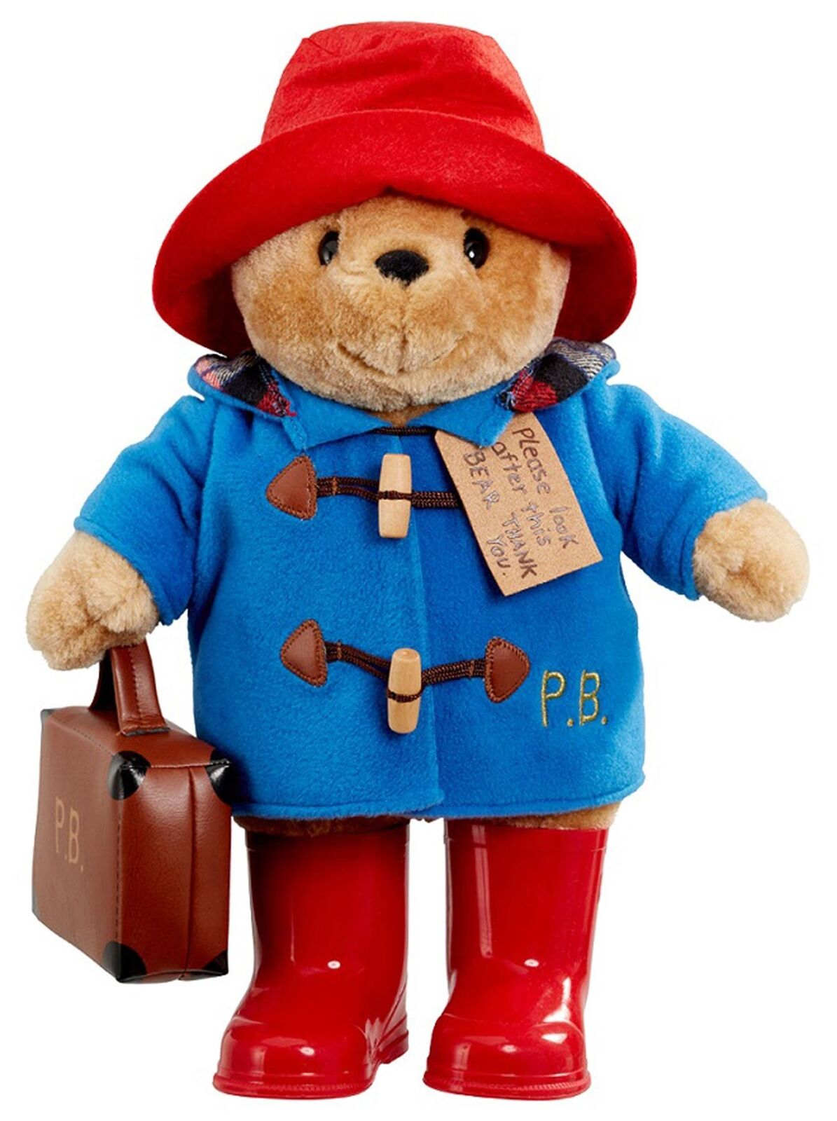 Rainbow Designs LARGE CLASSIC PADDINGTON BEAR WITH Stiefel AND SUITCASE Toys BN