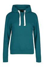 Ladies Womens Draw Cord Hoodies Fleece Long Sleeve Side Pockets Knit Jumper Top