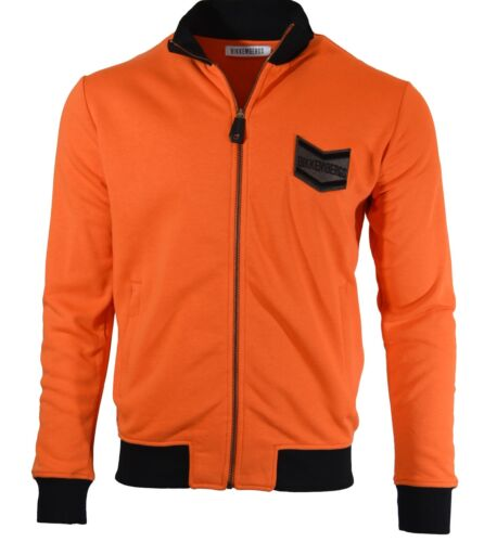 50/% OFFBIKKEMBERGS ZIP UP SWEATSHIRT TRACK JACKET TRACKSUIT TOP ORANGE BLACK