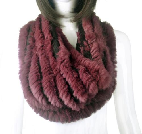 Knitted Rabbit Fur Scarf Scarves Furry Wraps New Experience Real Fur Collar Neck