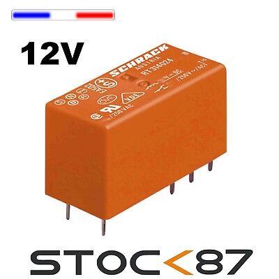 bobine de 12V 2RT 10 pcs relay 971-12//10# Relais pour circuit imprimé