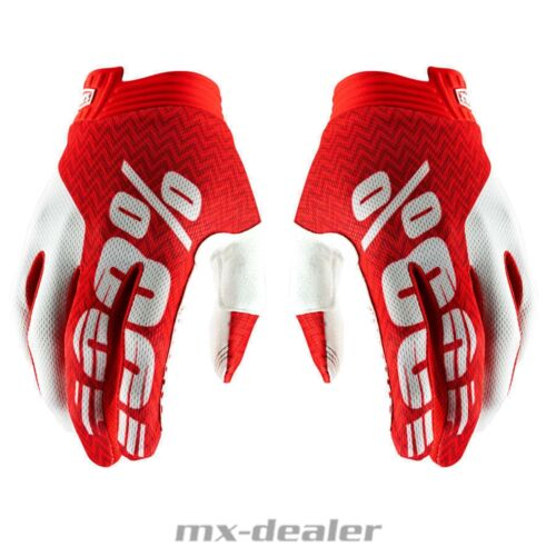 100/% ITRACK 2019 Rosso Guanti MTB DH MX BMX MOTOCROSS ENDURO QUAD