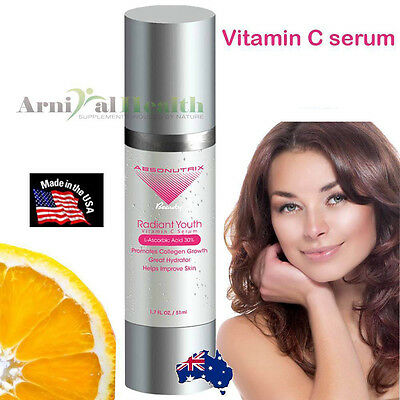 VITAMIN C SERUM L-Ascorbic Acid + Hyaluronic Acid ANTI AGING SKIN CARE 51ml