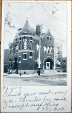 1907 Lima, Ohio OH Postcard: 'The Post Office Building'