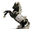 Italian Horse Ornament White Black Silver Medium Romany Ceramic 43cm Gift