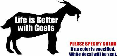 2 GOATS DECALs Oval Stickers For Car Window Truck Bumper Laptop Jeep RV