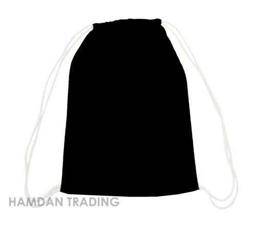 10 NEW TOP QUALITY NATURAL 100/% Cotton Drawstring Rucksack Tote Bag School Gym