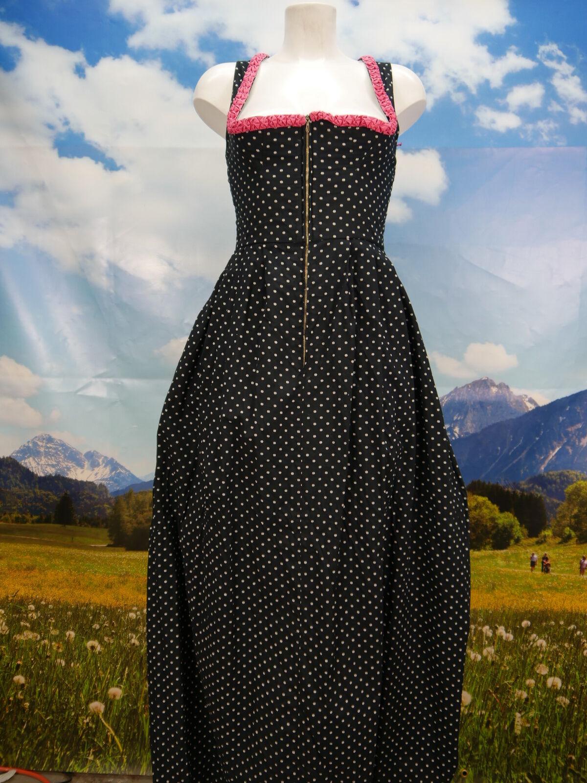 Lncubateur vintage du noir avec feinmuster costumes robe Sans Tablier Taille 34