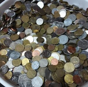 Lot-4-Pound-4-Libra-1816-Grams-Of-Mixed-Foreign-World-Coins-Free-Shipping