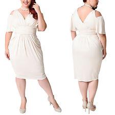 Women Bodycon Dress Plus Size Short Sleeve Party Evening Cocktail Club Dresses