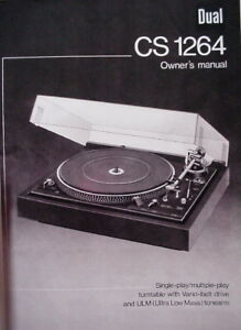DUAL-CS-1264-TURNTABLE-OWNER-039-S-MANUAL-10-Pages
