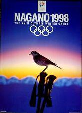 "1998 Nagano, Japan - WINTER OLYMPIC POSTER - IOC Licensed reprint  13"" x 18"""