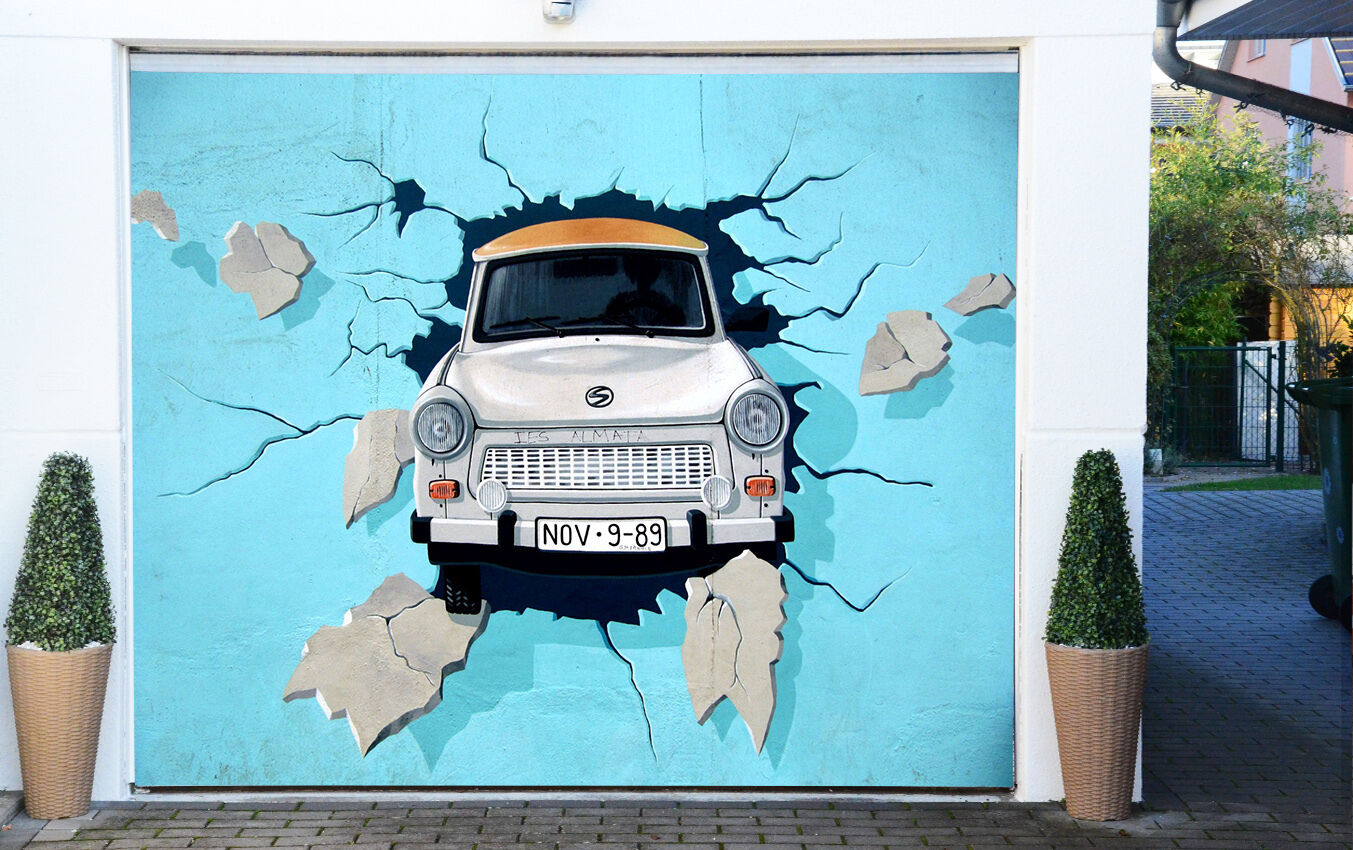3D Weiß car 44 Garage Door Murals Wall Print Decal Wall Deco AJ WALLPAPER UK