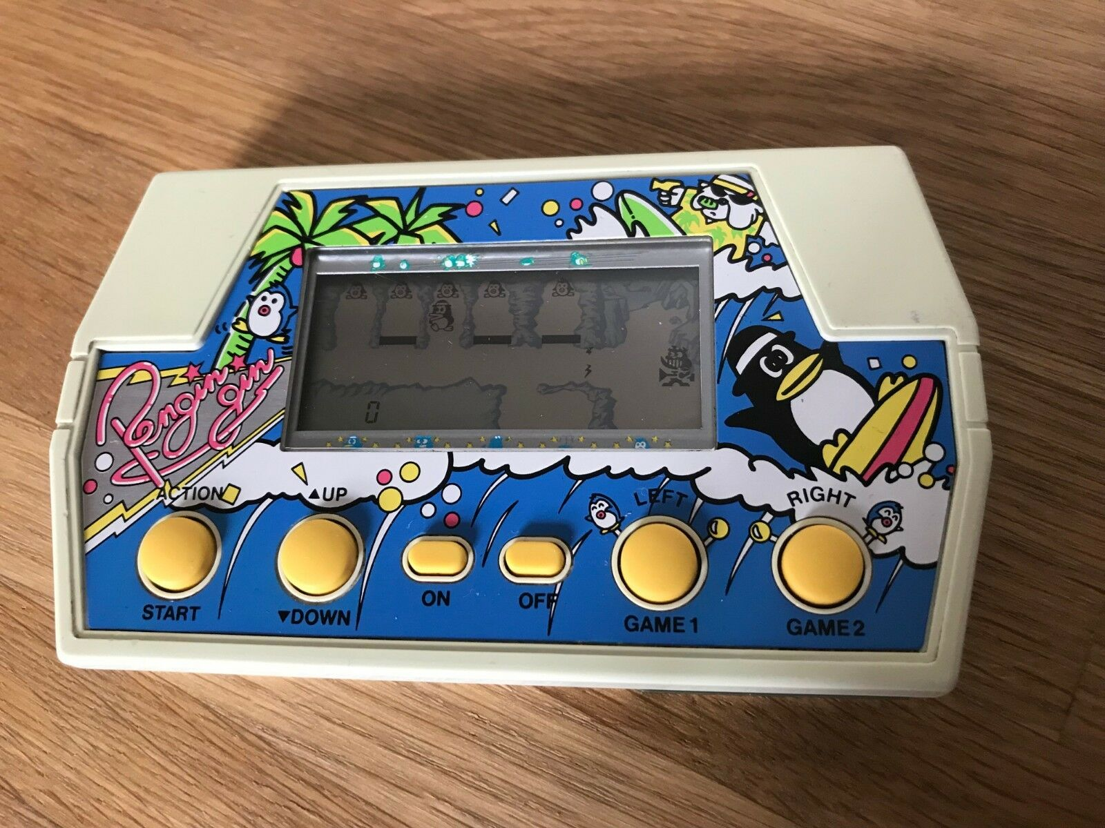 Ultra Rare Takatoku Toys Pengin Gin 1982 Vintage LCD Handheld Electronic Game.