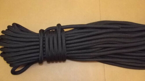 """12mm NEW 1//2/"""" Black Safety Rope x 100/' Double Braid Static Line"""