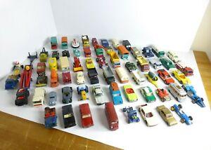 Lote-de-68-Autos-Vintage-Lesney-Matchbox-Con-Funda-De-Transporte