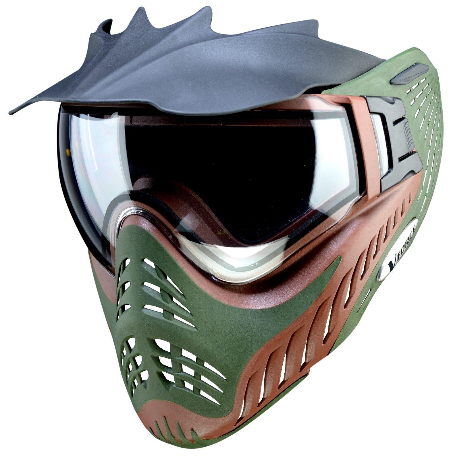 New VForce Profiler Paintball Goggles Mask  SC Terrain  Olive Drab  Marronee
