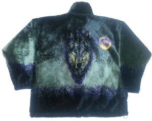 Phantom Wolf Plush Fleece Jacket New (SM, MD)
