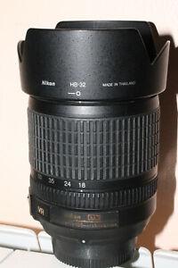 Zoom AF-S Nikon 18-105 mm  VR G ED + filtre UV 67 mm