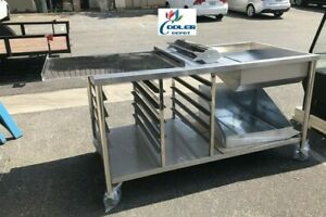 NEW-66-034-Donuts-Table-Working-Station-W-Glazing-Dipper-Sugar-Pan-Bottom-Basket