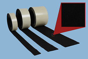 2-m-Stueck-Filzband-20-mm-breit-3-mm-stark-schwarz-selbstklebender-Filz