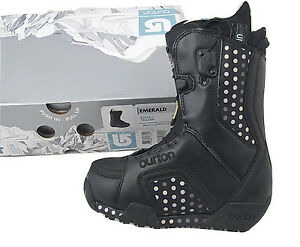 Black or White* *Cute Polka Dots*   *Tan Burton Emerald Snowboard Boots NEW