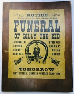 FUNERAL-OF-BILLY-THE-KID-TOMORROW-PARCHMENT-PAPER-ON-WOOD-14-1-2-034-X-11-1-2-034