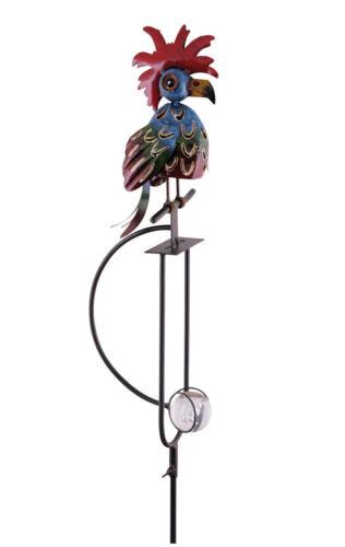 Windspiel Papagei Vogel bunt 150cm Metall Wippe Tap Pendel Pendler Gartenstecker