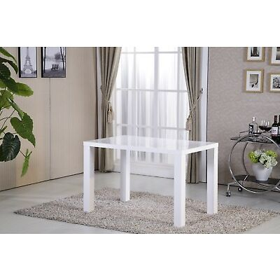Modern White High Gloss Dining Table Dining Room Kitchen Furniture
