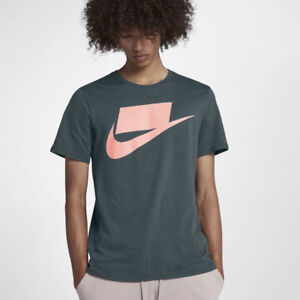 9a6a6e76 NEW 927392 303 MEN'S NIKE FUTURA BLOCKED T-SHIRT !! GREEN/PINK | eBay