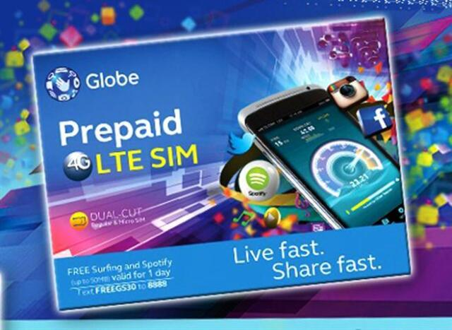 GLOBE Philippines Prepaid ROAMING SIM Card Mini Micro Nano 4G LTE w/ 450  Load