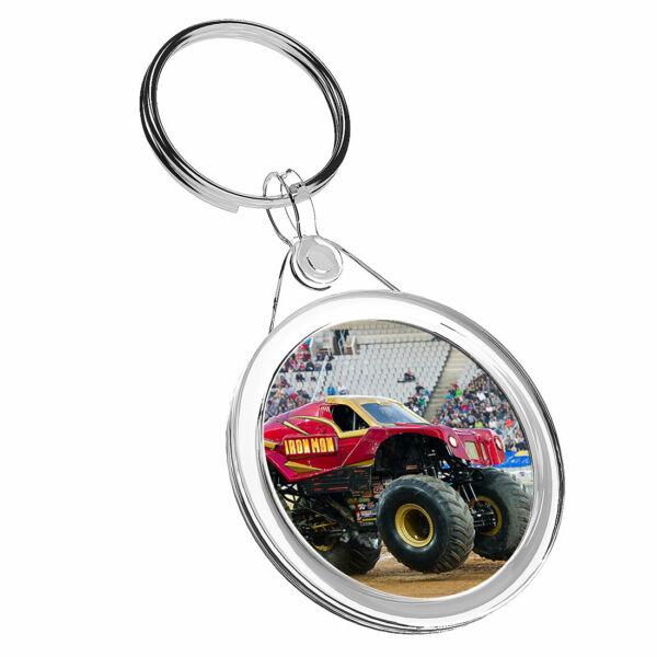 1 Mostro Rosso X Truck Rally Stunt-portachiavi Ir02 Mamma Papa 'regalo Di Compleanno #16442