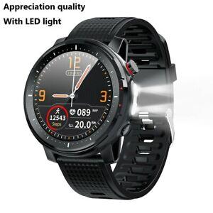 Microwear L15 LED Smart Watch ECG PPG IP68 Waterproof Blood Pressure Heart Rate