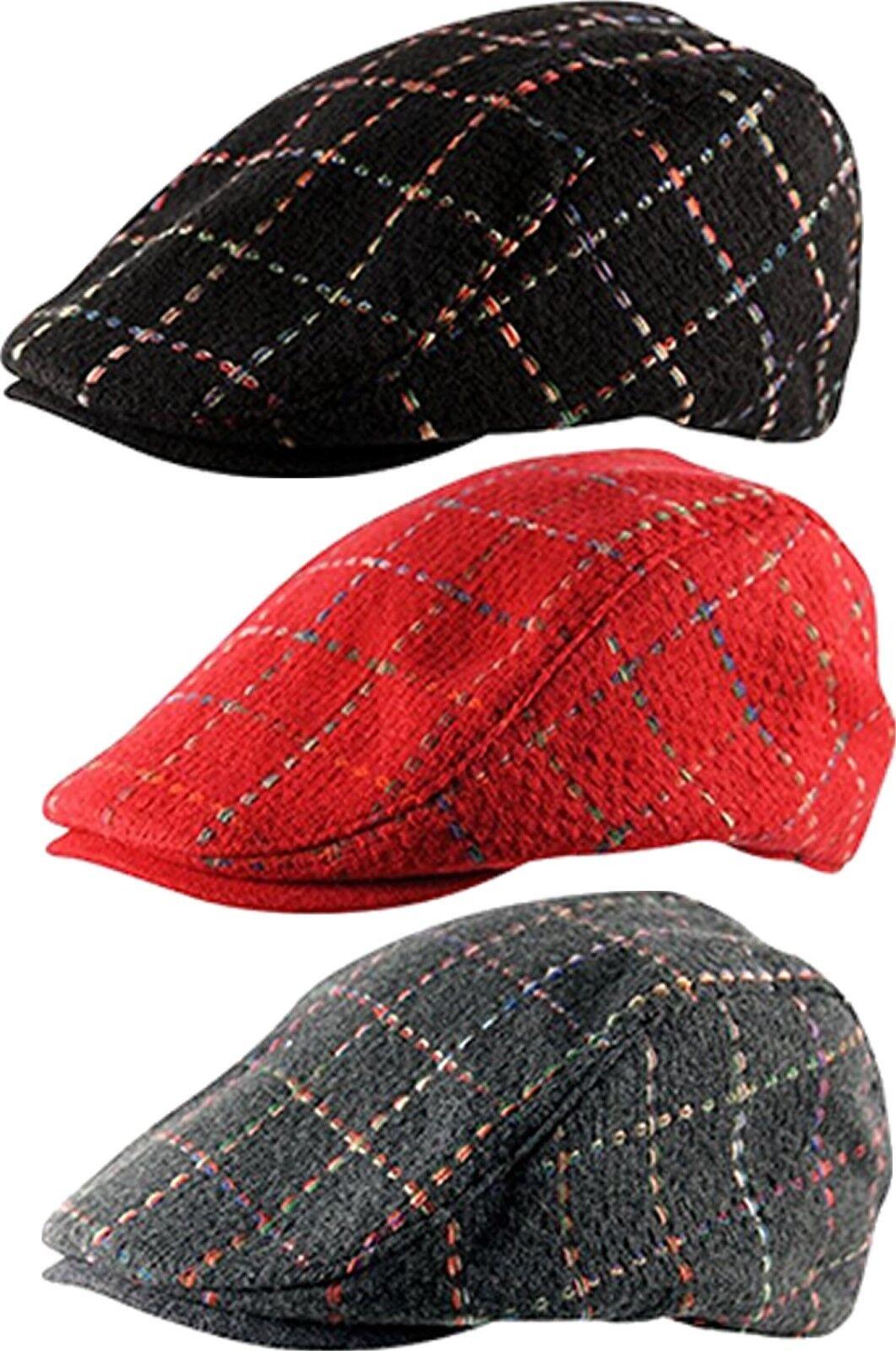 Woven Saddle Check Cabbie Country Golf Gatsby Newsboy Hat Baker Boy Flat Cap Hat Newsboy eafe98