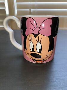 DISNEY MONOGRAM MINNIE MOUSE Mug/Cup Collectible RARE  3D Original Pink