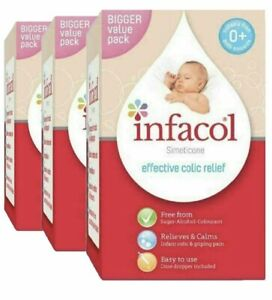Infacol Colic Relief Drops for Babies Simeticone 3x 85ml Bigger Value Pack Size