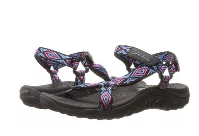684f483103d7 Skechers Women s Reggae Misty Morning Sandal Black multi 8 M US