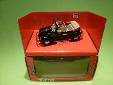 POLISTIL  VW VOLKSWAGEN KÁFER - CABRIOLET - BLACK - VERY GOOD IN BOX