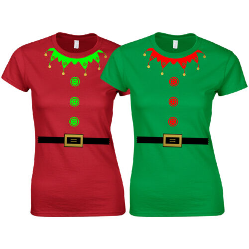 Christmas Elf Suit Ladies Fitted T-Shirt Cute Santa/'s Little Helper Funny Gift