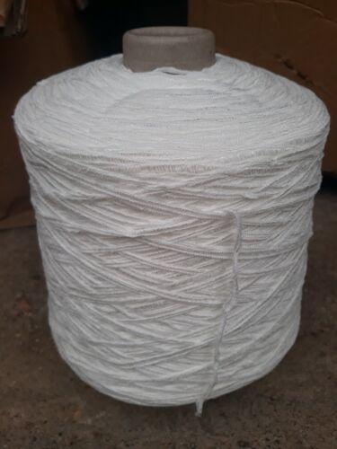 fil a tricoter Fantaisie Ruban Blanc 1Kg060
