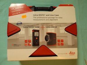 Leica disto d210 laserentfernungsmesser & leica lino l2 im koffer