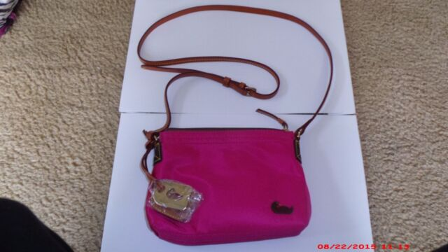 Dooney & Bourke nylon and leather small shoulder bag