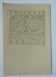 Exlibris-Bookplate-034-K-P-Sachs-034-Jugendstil-Erotik-3
