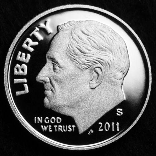 Coin from Oriignal U.S 2011 S Roosevelt Dime Mint Clad Proof ~ U.S Proof Set