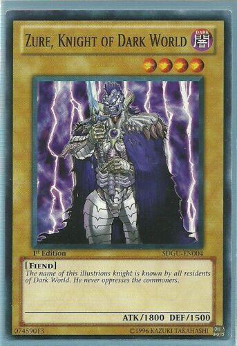 Knight of Dark World Common Card 3x Yugioh SDGU-EN004 Zure