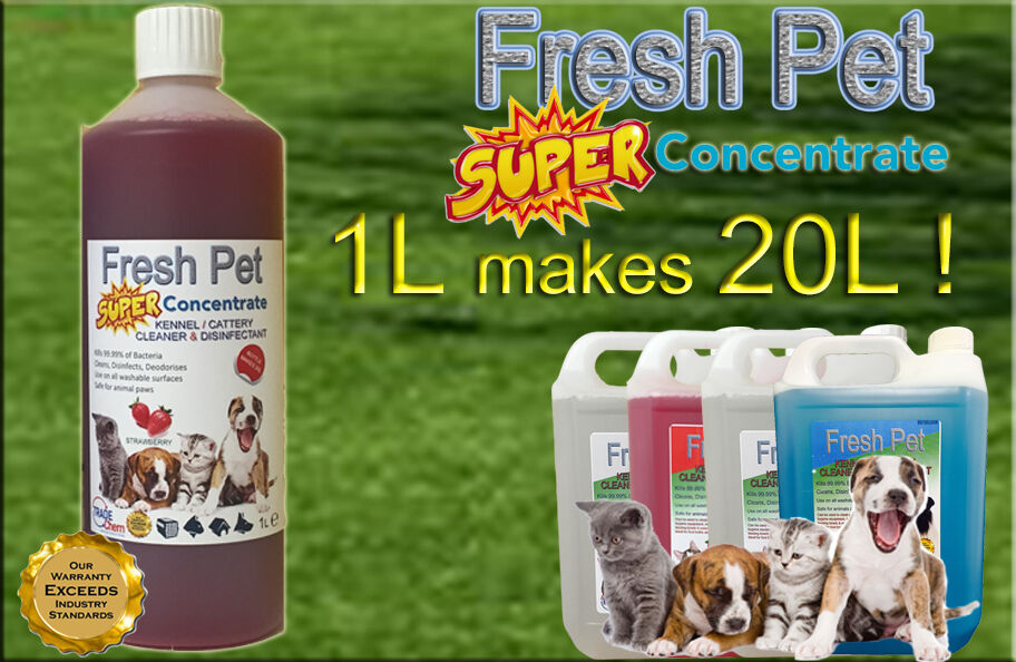 1L SUPER CONCENTRATE FRESH PET DISINFECTANT 1L = 20L STRAWBERRY