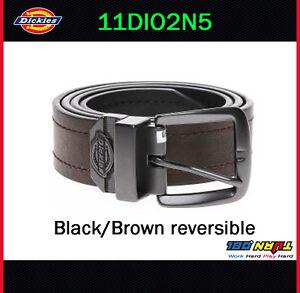Dickies-Mens-38mm-Reversible-Jean-Belt-11DI02N5-BLACK-BROWN-Buckle-Size-32-44