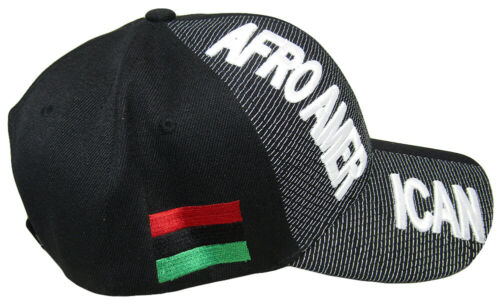 Afro American Country Black White Letter Crest Patch Side Embroidered Hat Cap