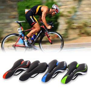 Velo-Siege-de-Selle-Bicyclette-Cyclisme-VTT-Gel-Randonnee-Creux-Confortable